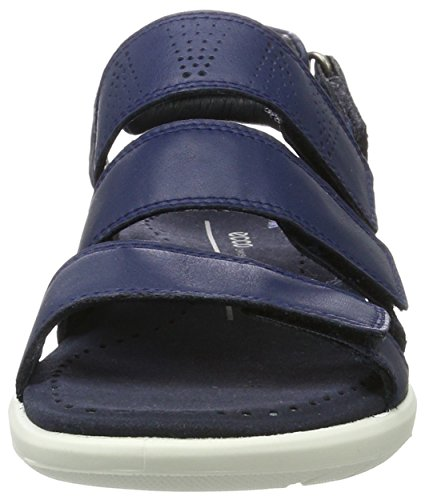 3 Soft Navy 3 5 Flat Sandal Strap Strap 5 Blue Women's True Soft ECCO 1SEqff