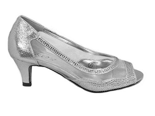 Femme Silver Pour Sko's l2 Sandales ECq4ZP