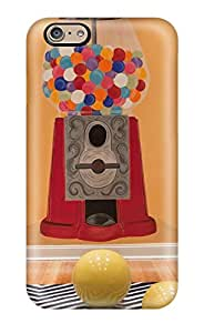 Faddish Phone Hand-painted Gumball Machine On Orange Playroom Wall Case For Iphone 6 Perfect Case Cover