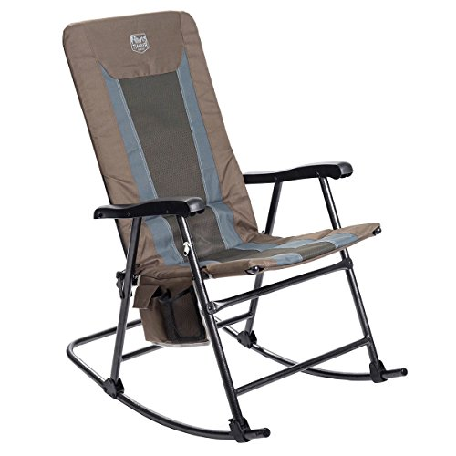 Timber Ridge Smooth Glide Lightweight Padded Folding Rocking Chair for Outdoor and Support up to 300lbs