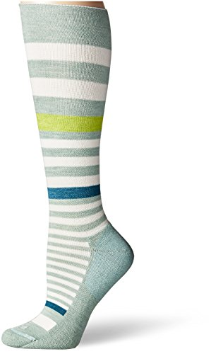 Sockwell Women's Orbital Striped Socks, Celadon, Medium/Large