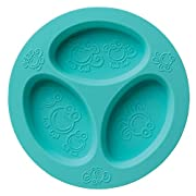 oogaa Home Silicone Baby and Toddler Divided Plate, Jewel Blue