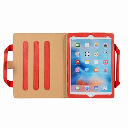 iPad Pro12.9 Briefcase, Earcase PU Leather Protective Cover Luxury Portable Business Briefcase Style Handbag Fold Out Viewing Stand Handle Pocket Carrying Case for iPad Pro 12.9 inch(Red)