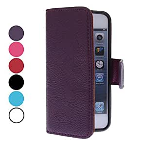 hao Novel cowhide all for the iPhone 5 seconds (various colors) , Purple