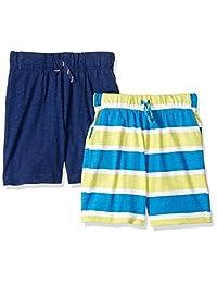 Spotted Zebra Boys 2-Pack Jersey Knit Shorts