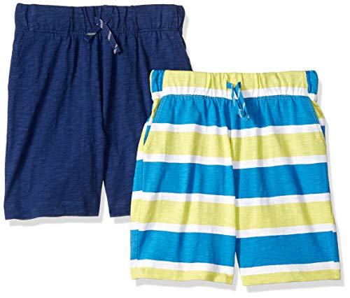 Spotted Zebra Boys' 2-Pack Jersey Knit Shorts