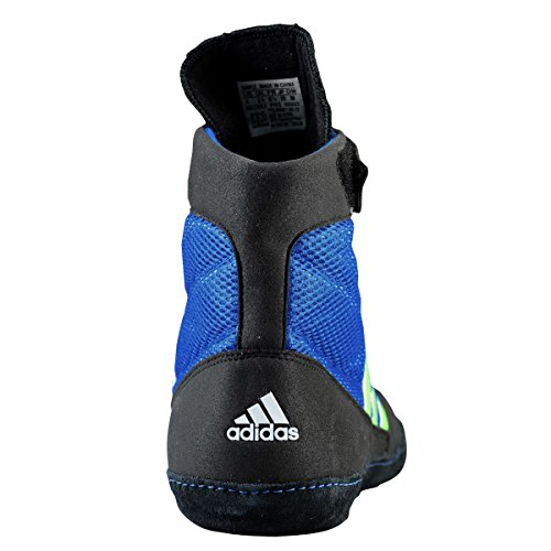 Adidas velocidad Combat 4 Tamaño de lucha Zapatos de jóvenes Bahía Azul / cal 1,5 Bahia Blue,Lime Green,Black