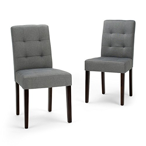 Elegant Simpli Home AXCDCHR 004 GL Andover Contemporary Dining Chair (Set Of 2)
