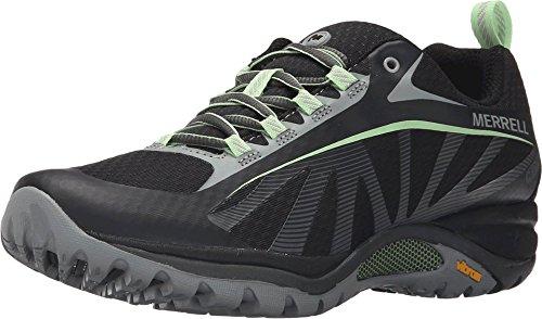 Merrell Women's Siren Edge Waterproof Hiking Shoe, Black/Paradise, 9 M US