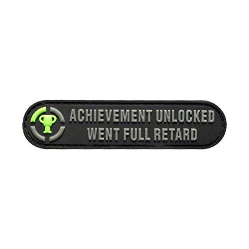 Achievement Unlocked Went Full Morale PVC Patch (PVC-3.5 X 0.75)