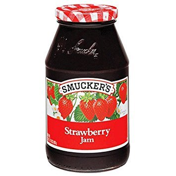 SMUCKER'S STRAWBERRY JAM - 2 JARS (32 oz each)