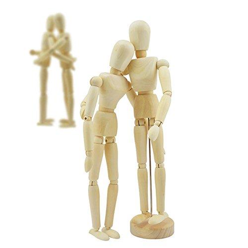 MEXUD Wooden Manikin Mannequin Moveable Limbs Human Figure Art Drawing Sculpting Model 14cm