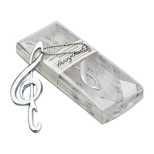 12PCS Skeleton Music Note Bottle Openers in Bulk with Chains and Gift Box Wrap for Bridal Shower Favors, Party Favors and Wedding Favors
