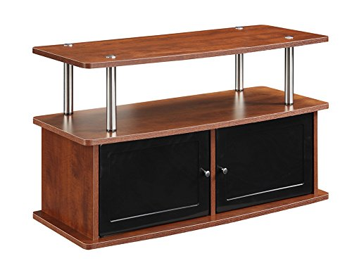 - Convenience Concepts TV Stand with 2 Cabinets, Cherry