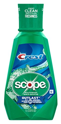 Scope Outlast Mouthwash Long Lasting Mint - 33.8 oz, Pack of 6