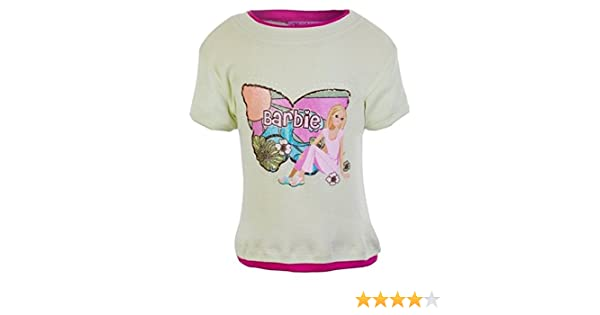 Barbie Little Girls Sage Fuchsia Doll Floral Butterfly Print camiseta 6: Amazon.es: Ropa y accesorios