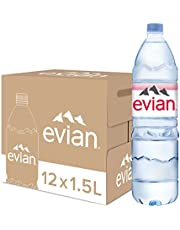 Evian Mineral Water 1.5L, (Pack of 12)