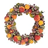 "16"" Pre-Lit Sugared Fruit & Berrie Christmas Wreath"