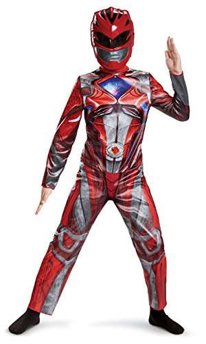 Power Ranger Movie Classic Costume, Red, Medium (2017 Boys Halloween Costumes)