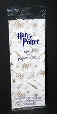 Harry Potter Gold on Cream Tissue Wrapping Paper