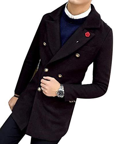 Manteau De Carreaux Pour Laine Hommes Boutonnage En À 2 Double Imprimée Vêtements Kangqi ZFwxqBtw