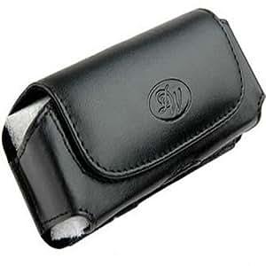 Leather Sideways Belt Clip Case Pouch for Motorola WX345
