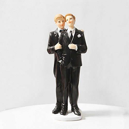 Love And Devotion 7 Inch Gay Cake Topper Figurine