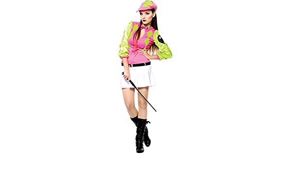 Amazon.com: Womens Hen Night Derby Darlin Fancy Dress Party Sexy Horse Racing Jockey Costume: Clothing