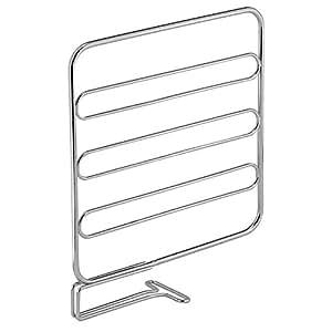 InterDesign Classico Wire Shelf Divider, Closet Organizer for Clothing Storage - Set of 2, Chrome
