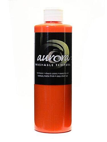 Chroma Inc. Aurora Washable Tempera orange [PACK OF 4 ]