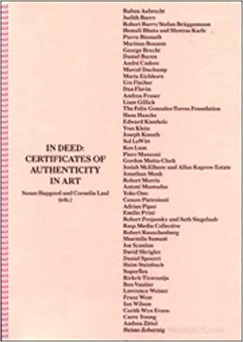 In deed certificates of authenticity in art s hapgood c lauf in deed certificates of authenticity in art s hapgood c lauf 9789077459690 amazon books yadclub Choice Image
