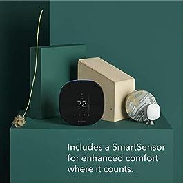ecobee SmartThermostat with Voice Control, SmartSensor Included, Alexa Built-In