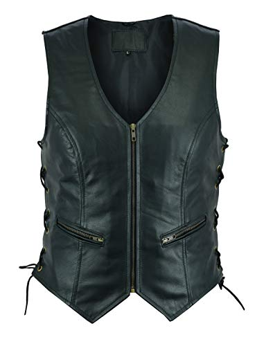 Ruja Sports Women's Classic Leather Vest with Side Lace (XS)