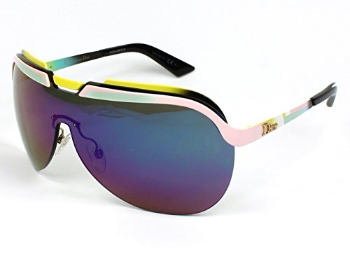 Dior 6OS Yelow Pink and White Solar Wrap Sunglasses Lens Category 3 Lens - 2014 Frames Dior Glasses