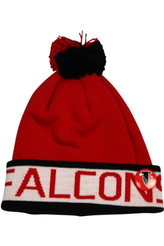 (Mitchell And Ness Team Cuffed Knit Atlanta Falcons Red - Black)