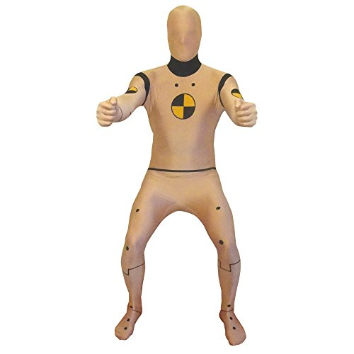 Crash Test Dummy Morphsuit Costume - size Large - 5'3-5'9 (Crash Dummy Costumes)