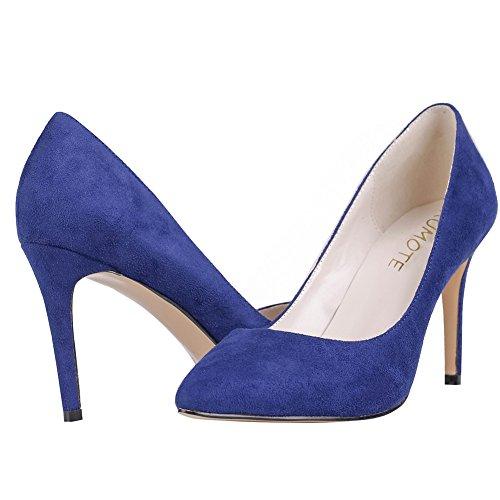 MERUMOTE - Zapatos de tacón fino Mujer Blue-Suede