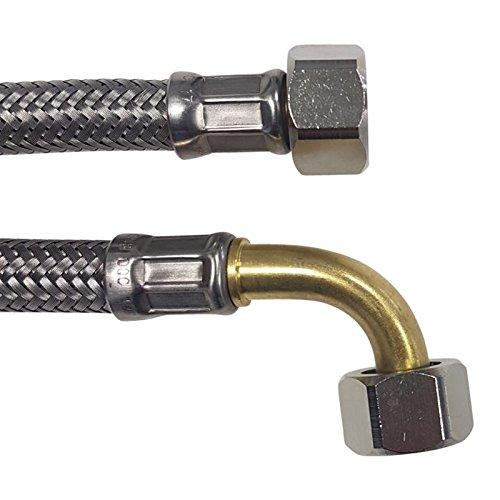 Flexible de acero inoxidable trenzado manguera de máquina de café 3/8