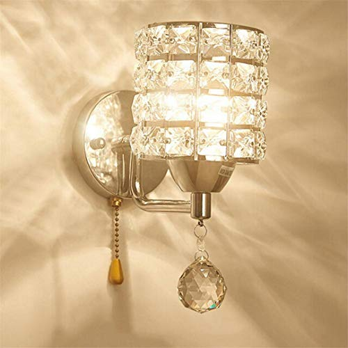 Led Crystal Wall Lamp Sconce Crystal Wall Light Bedroom Bedside Gold Lamp European Corridor Living Room Wall Lamp Light 02