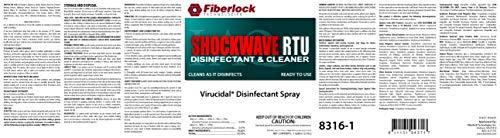 Fiberlock Shockwave RTU Disinfectant Cleaner, Sanitizer, and Virucide (1 Gallon & 5 Gallon size Available)
