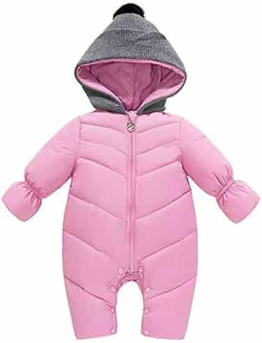 fc9b50eb3 Happy childhood Baby Boys Girls Adorable Hoodie Jumpsuit Snowsuit Winter  Zip Up Long Sleeve One Piece
