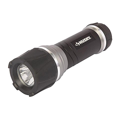 Huskies Led (Husky 165 Lumen Cree LED Virtually Unbreakable Aluminum Flashlight with 3 modes of operation, High Low and Strobe Functions, 30ft Shock Resistant Rubber Protection)