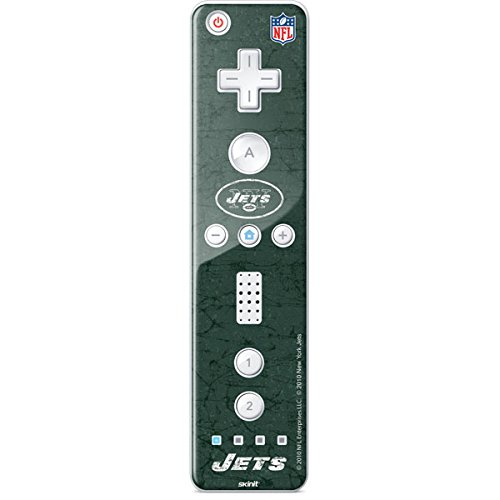 (Skinit New York Jets Distressed Wii Remote Controller Skin - Officially Licensed NFL Gaming Decal - Ultra Thin, Lightweight Vinyl Decal Protection )