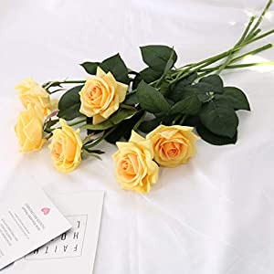 N YONGNUO Latex Moisturizing Roses of Real Touch Natural Artificial Flowers Roses Realistic Color for Wedding/Home Decor or As a Gift to Wife/Mother/Friend 3