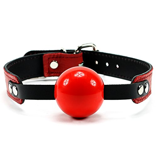Bonn Silicone Ball With Lambskin Leather Strap (Red)