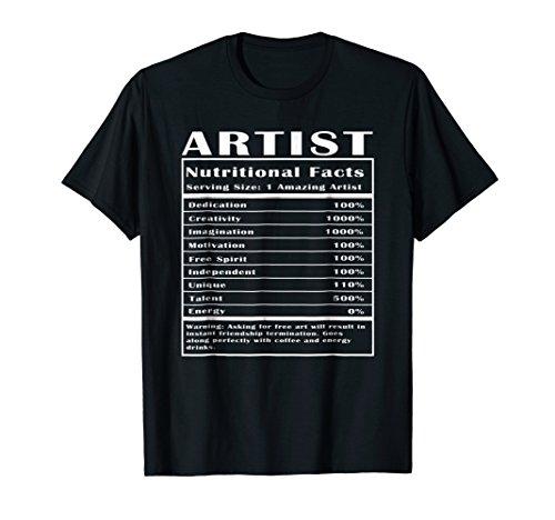 Artist Womens T-shirt - Artist Nutritional Facts T-Shirt
