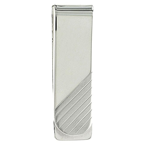 Silver 8 Clip X Stripes Diagonal Italy made Sterling Money 2 in inch 5 dqWzvgdaOn