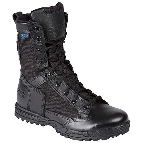 5.11 Botas militares tácticas de combate para hombres, 8 , cuero, cremallera lateral, peso ligero, estilo 12321