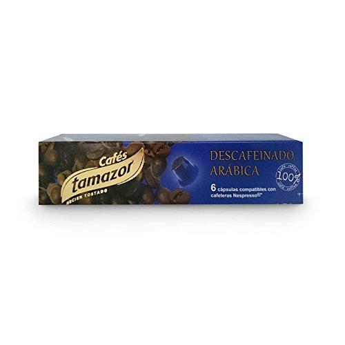 Tamazor - Café Descafeinado Compatible Con Nespresso - 6 CAPSULAS DE 5,5 GR: Amazon.es: Alimentación y bebidas