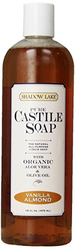 Citra Solv Shadow Lake Castile Soap Liquid, Vanilla Almond, 16-Ounce Bottles (Pack of 6)